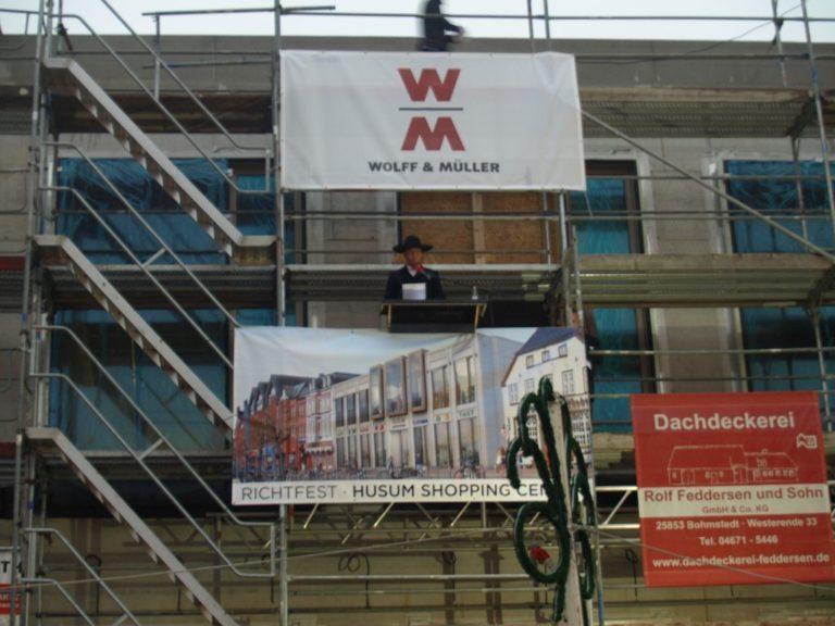 Richtfest und Baustellenbesichtigung Husumer Shopping Center THEO