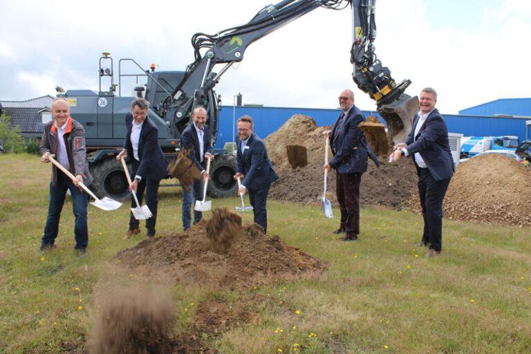 Spatenstich für die zweite Wasserstoff-Tankstelle in Nordfriesland
