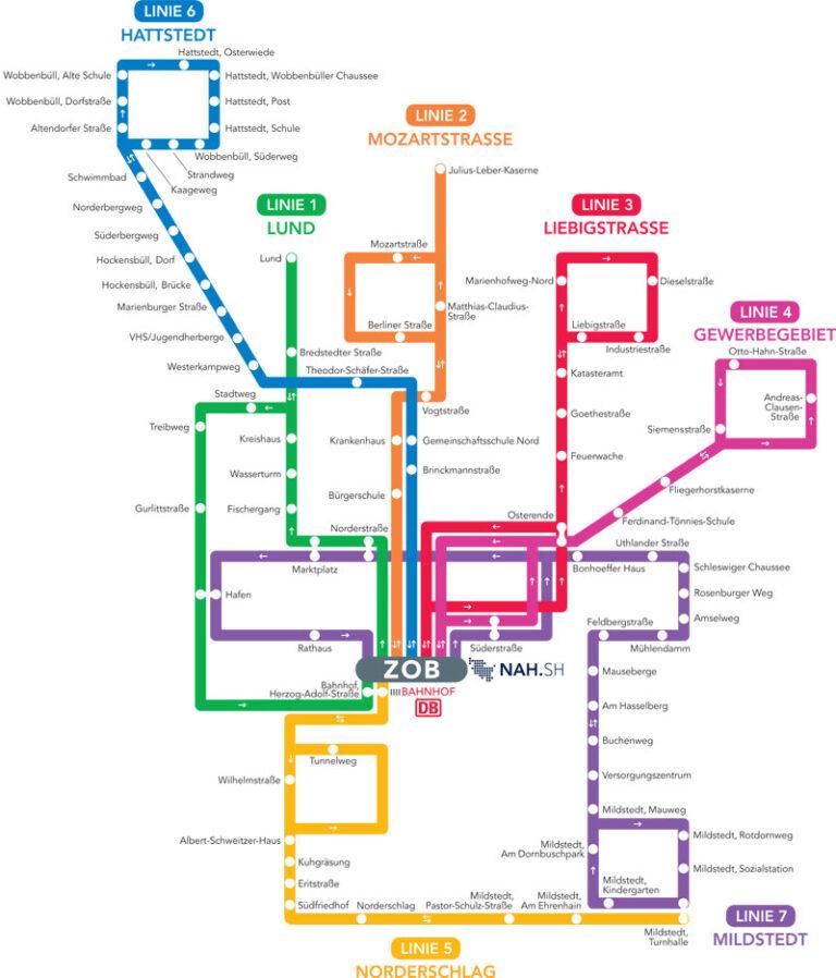 HusumBus: Fahrplan Änderungen ab 2021